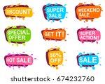 trendy speech bubble set for... | Shutterstock .eps vector #674232760