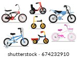 different types bicycle for... | Shutterstock .eps vector #674232910