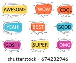 trendy speech bubble isolated... | Shutterstock .eps vector #674232946