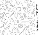 seamless pattern on the theme... | Shutterstock .eps vector #674233789