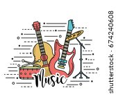 musical instruments to play... | Shutterstock .eps vector #674240608