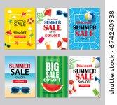 summer sale emails background... | Shutterstock .eps vector #674240938