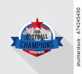 2018 football champions badge...