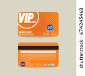 front and back vip member card...