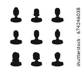 silhouette black avatars people ... | Shutterstock .eps vector #674246038
