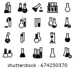 set of simple icons on a theme... | Shutterstock .eps vector #674250370