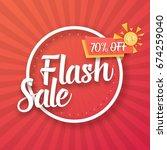 illustration of flash sale... | Shutterstock .eps vector #674259040