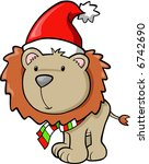 christmas holiday lion vector... | Shutterstock .eps vector #6742690