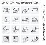 vinyl floor and linoleum floor... | Shutterstock .eps vector #674270179