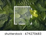 top view of creative layout... | Shutterstock . vector #674270683