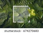 top view of creative layout... | Shutterstock . vector #674270683