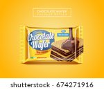 chocolate wafer package design  ... | Shutterstock .eps vector #674271916