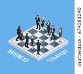 isometric concept of business... | Shutterstock .eps vector #674281240