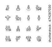 businessman related vector icon ... | Shutterstock .eps vector #674287030