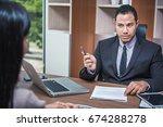 recruiter checking the...   Shutterstock . vector #674288278