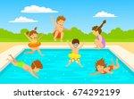 children kids  cute boys and...   Shutterstock .eps vector #674292199