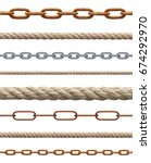 collection of  various rope and ... | Shutterstock . vector #674292970