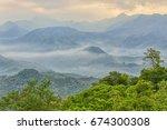 good morning  at san shiang tai ...   Shutterstock . vector #674300308