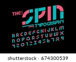 vector of modern abstract font... | Shutterstock .eps vector #674300539