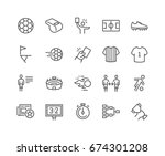 simple set of soccer related... | Shutterstock .eps vector #674301208