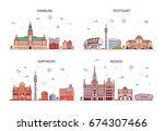 business city in germany.... | Shutterstock .eps vector #674307466