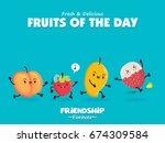 vintage food poster design with ... | Shutterstock .eps vector #674309584