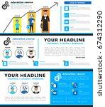 infographics education concept. ...   Shutterstock .eps vector #674312290