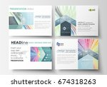 set of business templates for... | Shutterstock .eps vector #674318263