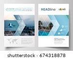 business templates for brochure ... | Shutterstock .eps vector #674318878