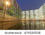 public estate in hong kong | Shutterstock . vector #674320528
