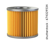 car filter close up isolated on ... | Shutterstock . vector #674329534