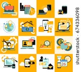 variety business vector and... | Shutterstock .eps vector #674336098