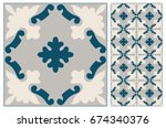 arabic patter style tiles for... | Shutterstock .eps vector #674340376