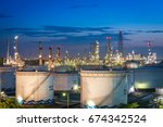 gas storage tanks and oil tank... | Shutterstock . vector #674342524