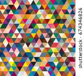 abstract geometric colorful... | Shutterstock . vector #674346826