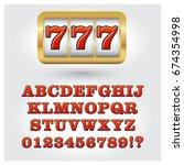 slot machine style decorative... | Shutterstock .eps vector #674354998