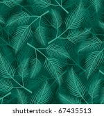 seamless pattern with leaf | Shutterstock .eps vector #67435513