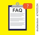 faq information sign icon.... | Shutterstock .eps vector #674355154