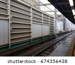 railway at the train station | Shutterstock . vector #674356438
