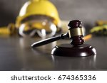 construction law. labor law... | Shutterstock . vector #674365336