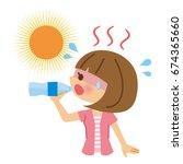 prevent heat stroke. | Shutterstock .eps vector #674365660