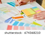 colorful notepad for... | Shutterstock . vector #674368210