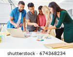 creative workshop in young...   Shutterstock . vector #674368234