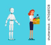 concept of artificial... | Shutterstock .eps vector #674368528