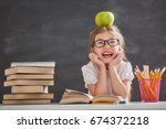 back to school and happy time ... | Shutterstock . vector #674372218