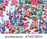 decorative composition of... | Shutterstock . vector #674373874
