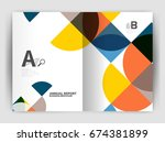 abstract circle design business ... | Shutterstock .eps vector #674381899