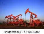 the oil pump  industrial... | Shutterstock . vector #674387680
