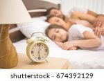the clock on the background of... | Shutterstock . vector #674392129
