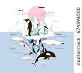 magic arctic poster ... | Shutterstock .eps vector #674396500